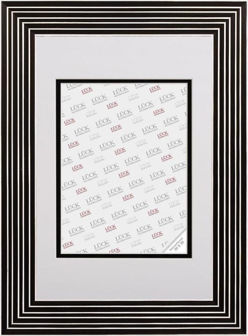 Kunststoffrahmen L594, schwarz weiss (Galerierahmen)