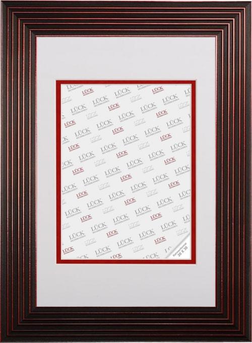 Kunststoffrahmen L592, schwarz rot