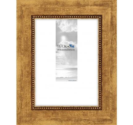 Beige Bilderrahmen Holz mit Glas Klassische Leiste 305 Breite in Braun Natur